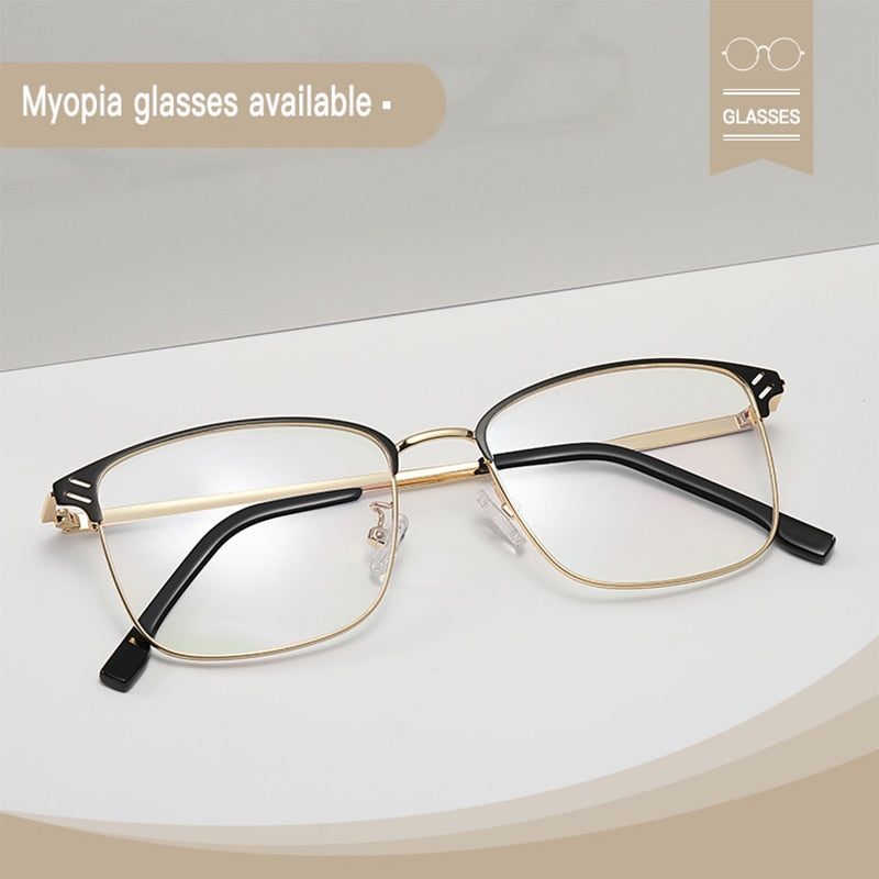 Photochromic glasses anti blue light block UV400 computer game protection goggle man women harm ray filter retro myopia eyeglass - Smoulder Products
