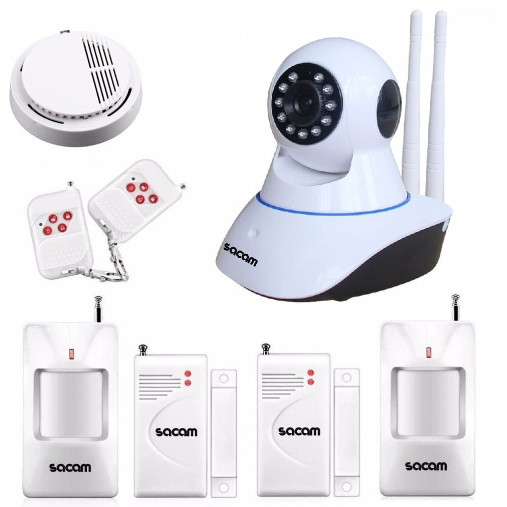 SACAM Wireless IP Camera 960P WiFi Alarm System Home Burglar Door Security PIR Sensors Network Video Surveillance Intruder Kit - Smoulder Products