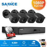 SANNCE 1080P CCTV System 4CH Video Surveillance Kit for Home 1080P-N HDMI DVR 4PCS 1280TVL 1080P Outdoor Security Camera 1TB - Smoulder Products