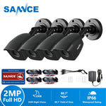 SANNCE HD 1080P CCTV Security Cameras 4pcs 2.0MP Outdoor Home Video Surveillance Camera CCTV System - Smoulder Products