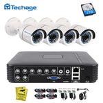 Techage 8CH 1080N AHD DVR Kit 720P CCTV System 1MP IR Night Vision Indoor Outdoor Camera Video Home Security Surveillance Set - Smoulder Products