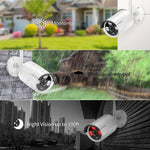 Techege 1080P Wireless CCTV Security Camera System 8CH WiFi NVR Kit Vandalproof Dome IP Camera Indoor P2P Video Surveillance Set - Smoulder Products