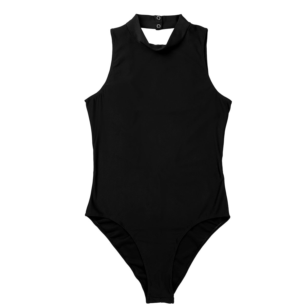 Women's Full Body Sheer Swimsuit Halter Neck Swimwear High Cut Leotard Bodysuit Gymnastics Leotard Swimming Suit Bath Clothes - Smoulder Products