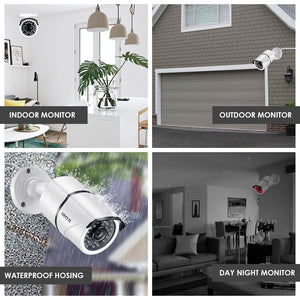ZOSI 2CH Home Surveillance System 4CH DVR Kit HD 1080P CCTV System 2pcs 2MP  Outdoor Video Surveillance Camera Set Home Security - Smoulder Products