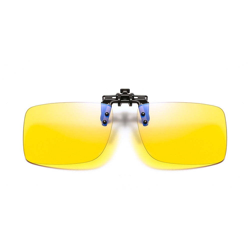 Zerosun Computer Glasses Lens Clip Yellow Clear Tint Lens Gaming Eyewear Block Blue Light Eye Protect No Degree - Smoulder Products