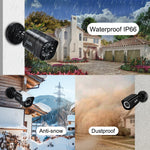 Zoohi AHD Outdoor CCTV Camera System 1080P security Camera DVR Kit CCTV waterproof home Video Surveillance System HDD P2P HDMI - Smoulder Products