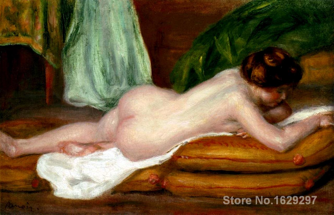 paintings on canvas Rest by Pierre Auguste Renoir Reproduction High Quality Hand-painted - Smoulder Products