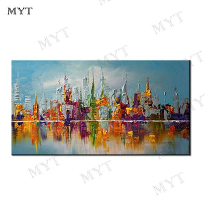 MYT Free Shipping 100% Handmade Reproduction Landscape Abstact Pictures Oil Painting On Canvas Wholesale Oil Paintings Pictures - Smoulder Products
