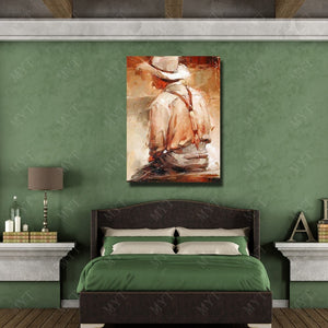 Good quality oil painting reproduction from china artists hand drawing west cow boy figure canvas wall art decor - Smoulder Products