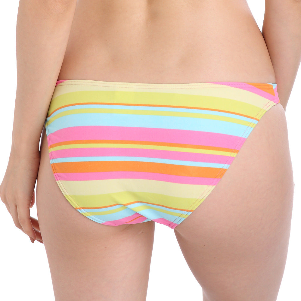 Two-Piece Separates Sexy Bikini Bottoms 2017 Summer Beach Women's Swimming Suit Strappy Smelting Striped Women Swimwear Trunk - Smoulder Products