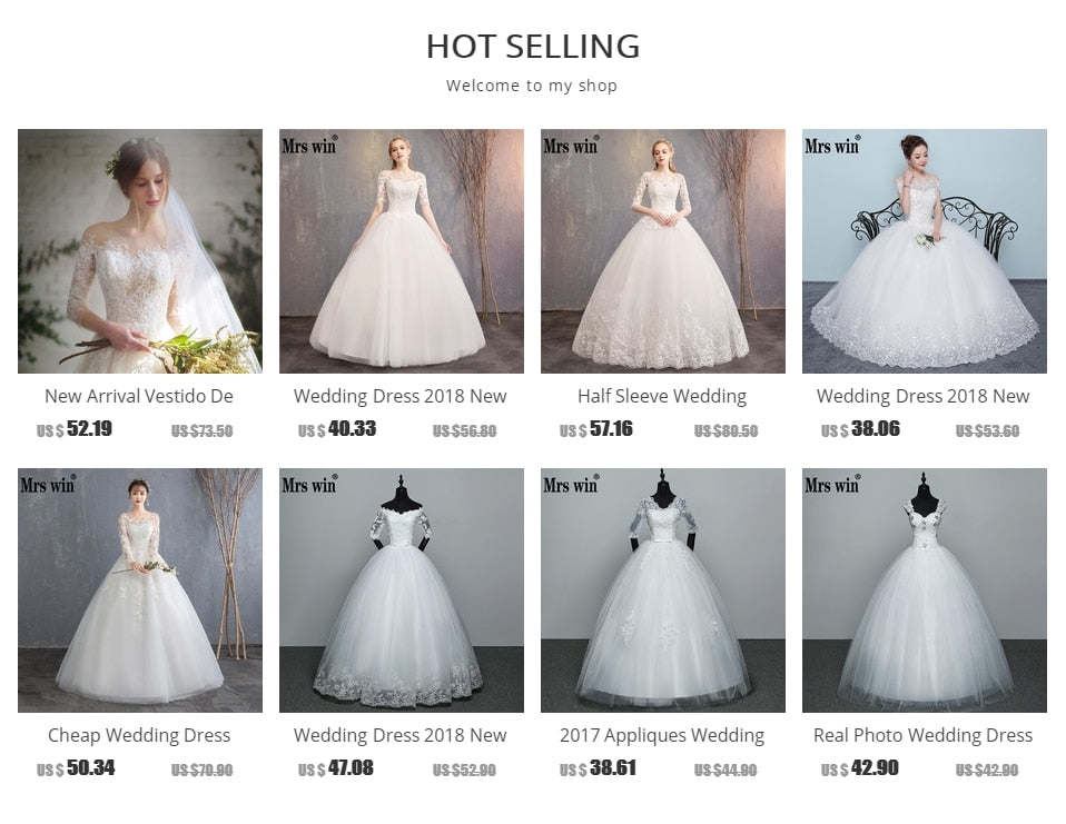 2020 New Wholesale Wedding Dress Half Sleeve Off Shoulder Wedding Gown Cheap Ball Gown Bridal Dress Made China Vestido De Noiva - Smoulder Products