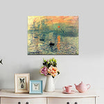 Sunset Famous Oil Paintings Reproduction Modern Canvas Seascape Artwork Sea Wall Art for Living Room Decoration hand painted - Smoulder Products