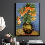 Flowers Van Gogh Oil Painting Reproductions Still Life Hand Painted Canvas Oil Paintings Vases Art Picture For Kitchen Unframe - Smoulder Products