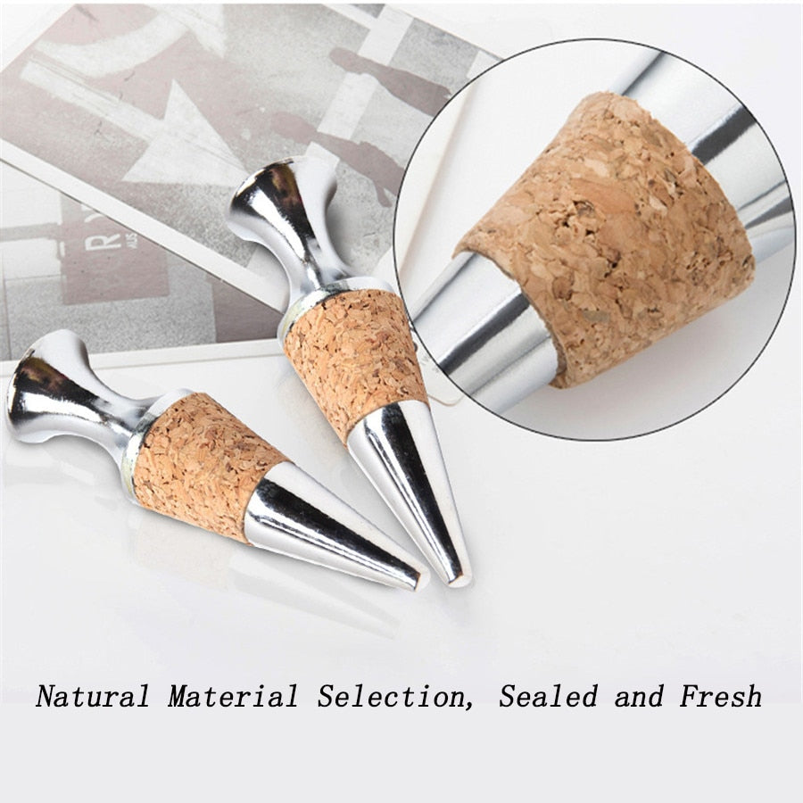 Stainless Steel Wine Stopper Vacuum Sealed Bottle Stopper Wine Cork Bottle Caps Storage Twist Cap Plug Gift Bar Wine Accessories - Smoulder Products