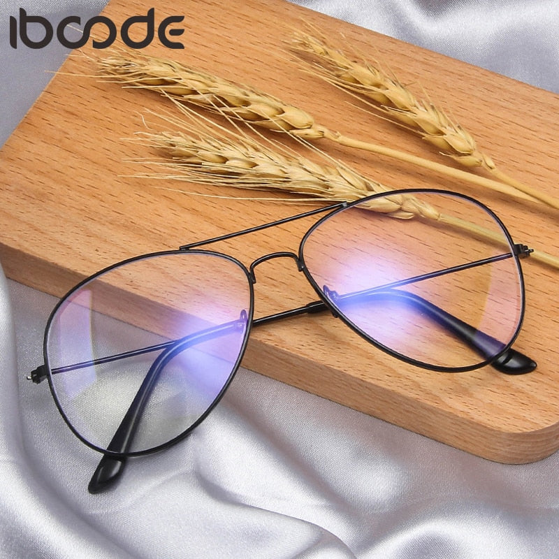 iboode Metal Anti Blue Light Blocking Glasses Frame Men Women Computer Games Goggles Eyeglasses Optical Spectacle Frame Unisex - Smoulder Products