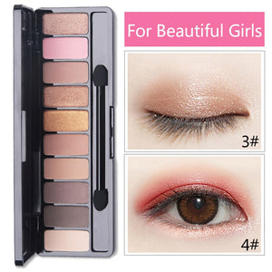 Fashion Eyeshadow Palette 10 Colors Matte Eyeshadow Palette Glitter Eye Shadow Makeup Nude Beauty Makeup set Cosmetics Tools Hot - Smoulder Products
