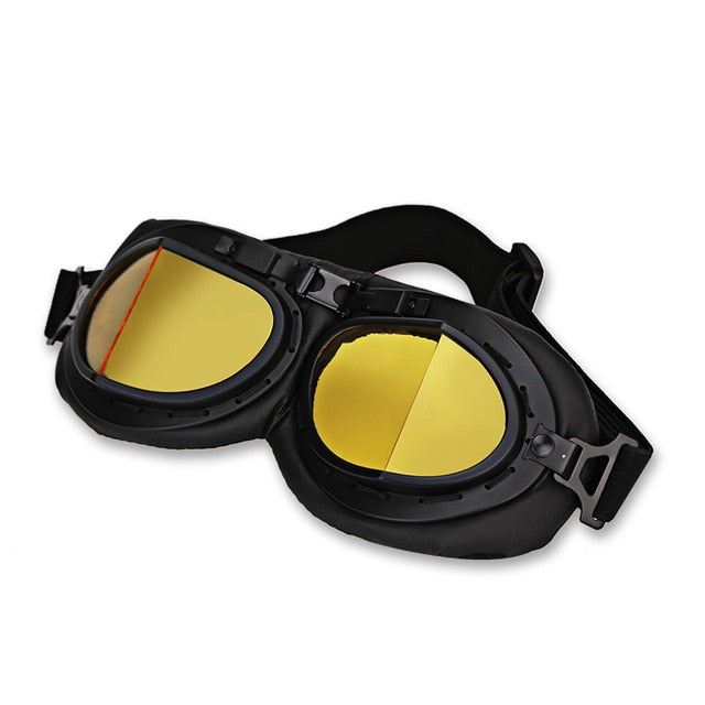 Universal Vintage Biker Motorcycle Goggles glasses for Helmet Open Face Half Goggles Motorbikes - Smoulder Products