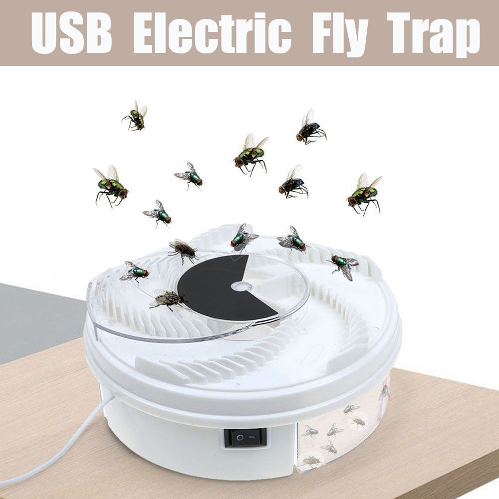 USB Insect Fly Trap with bait Electric Automatic Flycatcher Fly Trap Pest Reject Control Catcher Mosquito Flying Fly Killer - Smoulder Products