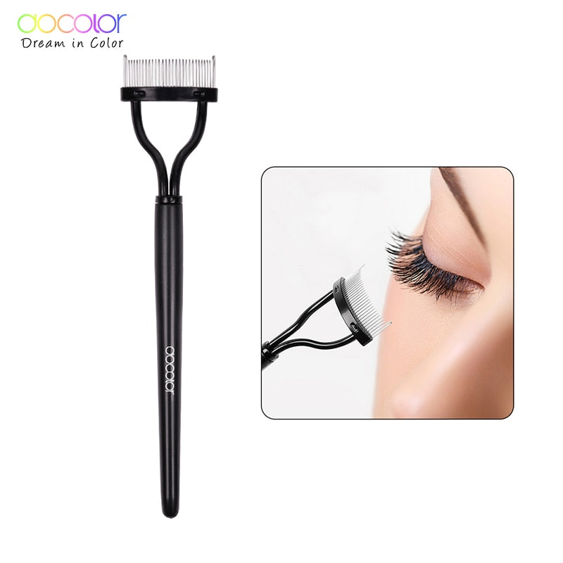 Docolor Make up Mascara Guide Applicator Eyelash Comb Eyebrow Brush Curler Beauty Essential Cosmetic Tool  Eye Makeup Tools - Smoulder Products
