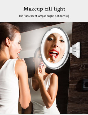Makeup Vanity Mirror With 10X Lights LED Lighted Portable Hand Cosmetic Magnification Light up Mirrors - Smoulder Products