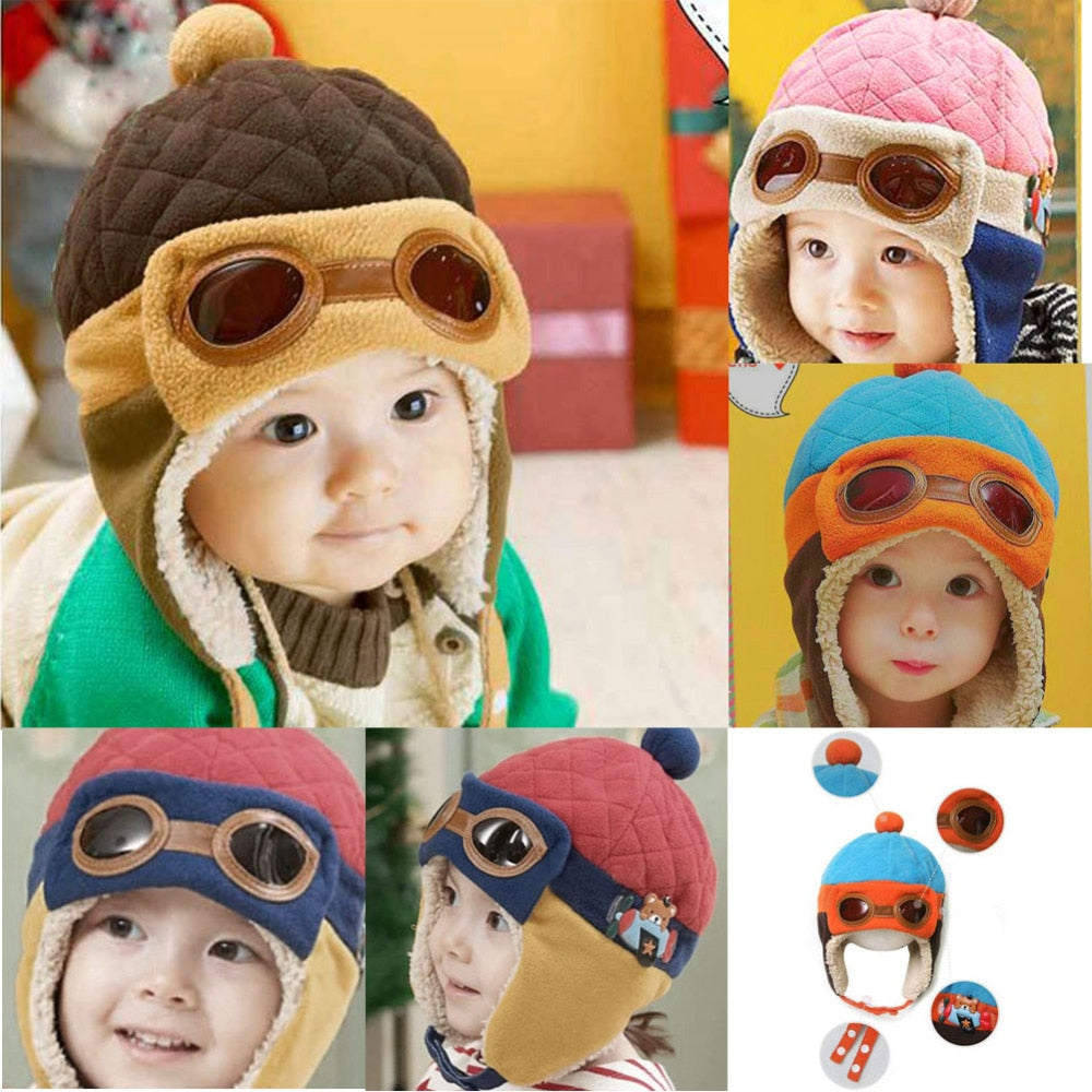 18 Kinds Baby Winter Warm Pilot Caps Girls Boys Children Infant Cartton Cute Beanie Hat Headwear New Year's Birthday Gifts - Smoulder Products
