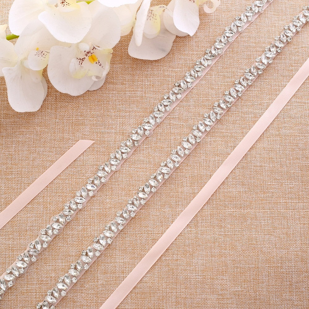 Beaded Rhinestones Wedding Belt crystal belt Pearls Bridal Belt for Dress In Stock J131 Wedding Accessories J135S - Smoulder Products