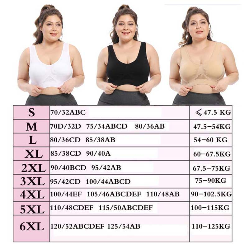 Plus Size Seamless Bra With Pads Easy Comfort Bra Active Everyday Push Up Bralette Vest Wireless Brassiere Bra - Smoulder Products