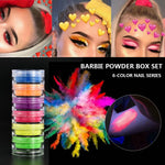 6 Colors Fluorescent Neon Powder Eyeshadow Glitter Matte Shimmer Glow In Dark Eye Shadow Matte Cosmetics Beauty Makeup for Nails - Smoulder Products