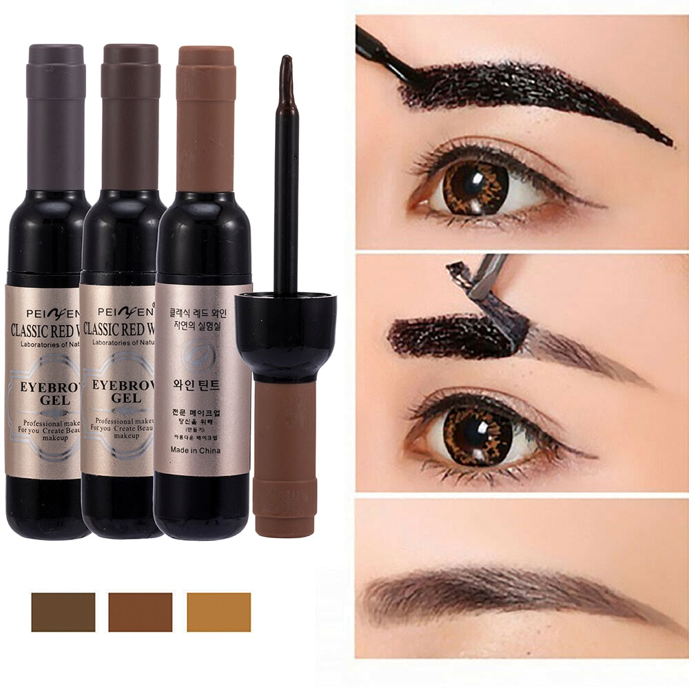 1 Pcs Eyebrow Gel Black Coffee Gray Peel Off Eye Brow Tattoo Shadow Eyebrow Gel Cosmetics Makeup for Women High Pigment Makeup - Smoulder Products