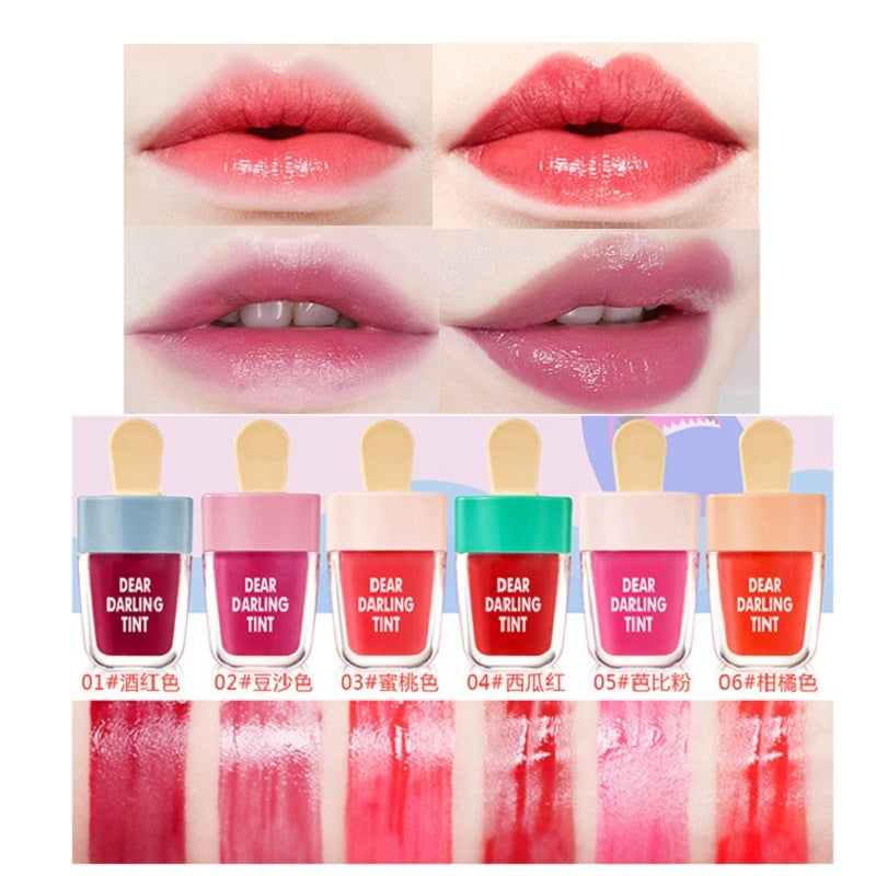 6 Colors Ice Cream Lip Tint Makeup Korean Style Red Liquid Matte Lipstick Pigment Nude Lasting Moisturizer Lipgloss Cosmetics - Smoulder Products