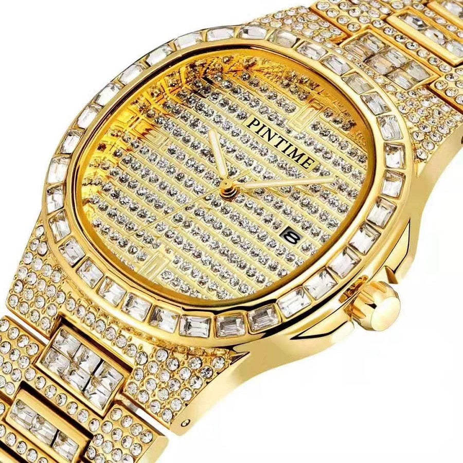 Top Brand Luxury Men Watches Best Selling 2020 All Diamond Watch Iced Out HIP HOP Gold Rolexable Mens Women Watch Reloj Mujer - Smoulder Products