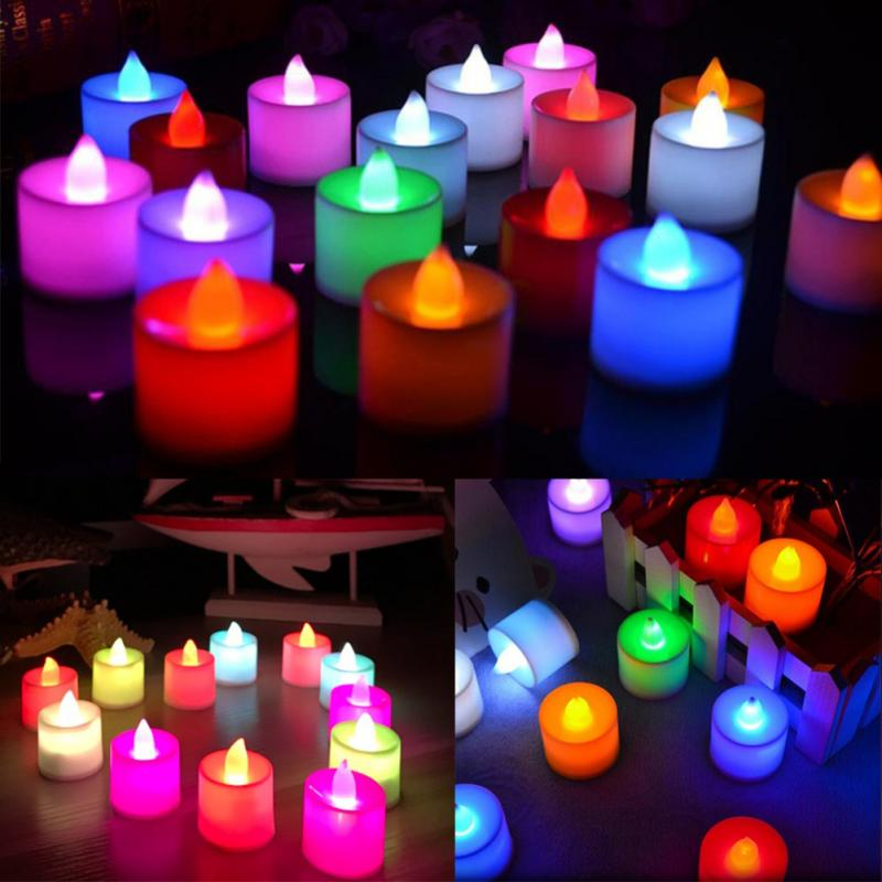 romantic LED Candle Lamp Light Flameless Simulation Tea Light Valentine Day Wedding candle Birthday Party Christmas Decoration - Smoulder Products