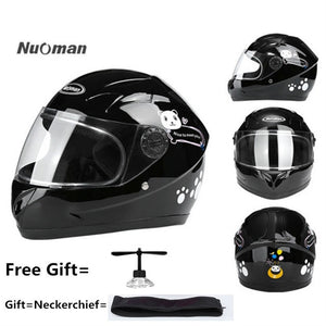 Nuoman Motorcycle Sports Craniacea Cycling Kids Helmet Children Full Face Helmet For Multi Pattern Anti-Vibration Riding - Smoulder Products
