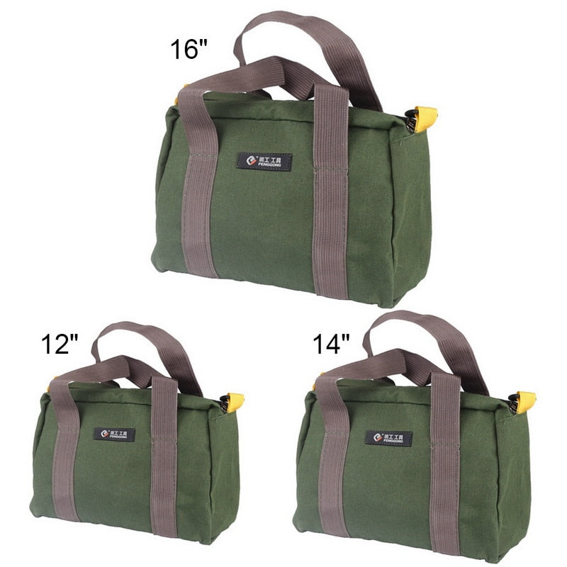 Waterproof Multifunction Canvas Hand Tool Storage Bag Screwdrivers Pliers Metal Hardware Parts Organizer Pouch Portable Toolkit - Smoulder Products