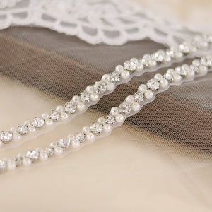 TRiXY S381 Elegant Pearls Belt Rhinestones Bridal Belt Crystal Wedding Belt Sash Bridal Dresses Accessories Wedding Sashes Belts - Smoulder Products