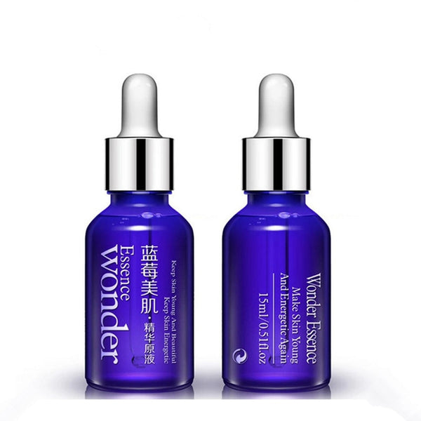 BIOAQUA 15ml Blueberry Hyaluronic Acid Liquid Face Care Anti Wrinkle Anti Aging Plant Essence Whitening Moisturizing Oil