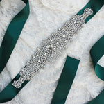 New Design Fresh Green Wedding Belts for bride Bride Waistband Bridal Sashes Crystal and Rhinestones Gown Dresses belt Accessory - Smoulder Products
