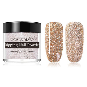 NICOLE DIARY 10g  Nail Color Dipping Glitter Gradient French Dip Nail Powder Natural Dry  Art Chrome Dust Pigment - Smoulder Products