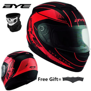 RED Black Adult Full Face Helmet Motorcycle Helmet vintage Motorcycle Motorbike Vespa - Smoulder Products