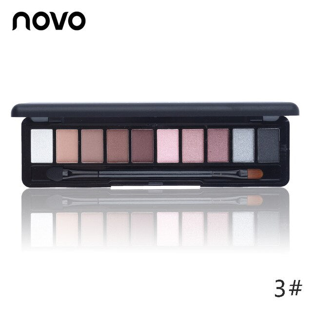 10 Earth Color Nude Makeup Eye Shadow Palette Smoky Glitter Matte Make Up Brush Tool Set Eyeshadow Maquillage Cosmetics - Smoulder Products
