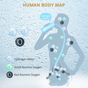 Portable Hydrogen-Rich Water Bottle Alkaline lonizer Hydrogen-Water Generator Maker Rechargeable Water Bottle 380ML Anti-Aging - Smoulder Products