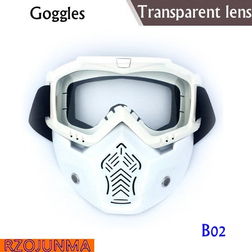 Motorcycle Glasses Motocross Motorbike Moto Goggles Detachable Goggle UV Protection Ski Bike for Halley Open Face Helmet Mask - Smoulder Products