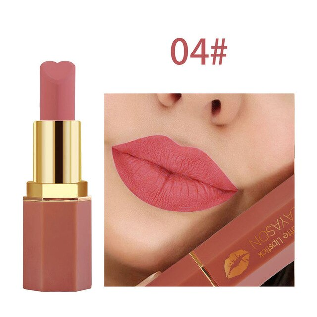 Velvet Lips Makeup Matte Lipstick Long Lasting Waterproof Lip Tint Nude Make Up Mate Lipsticks Red Cosmetics Lipstick for Beauty - Smoulder Products