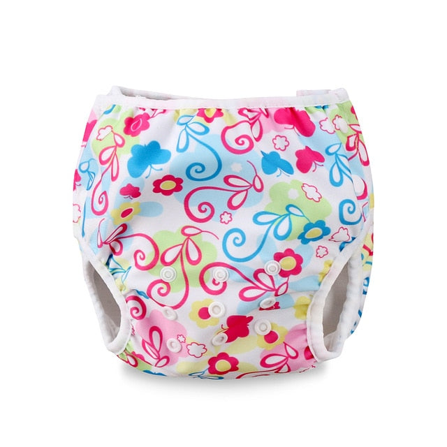 Adjustable Reusable Baby Summer Boys Girls Shorts Summer Cute Floral Swim Diaper Swimming Trunks Waterproof Swimwear - Smoulder Products