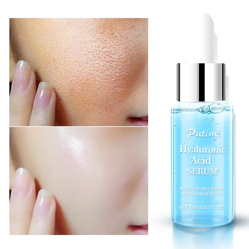 PUTIMI Hyaluronic Acid Face Serum Moisturizing Anti-Wrinkle Anti Aging Collagen Shrink Pores Face Essence Whitening Face Cream - Smoulder Products