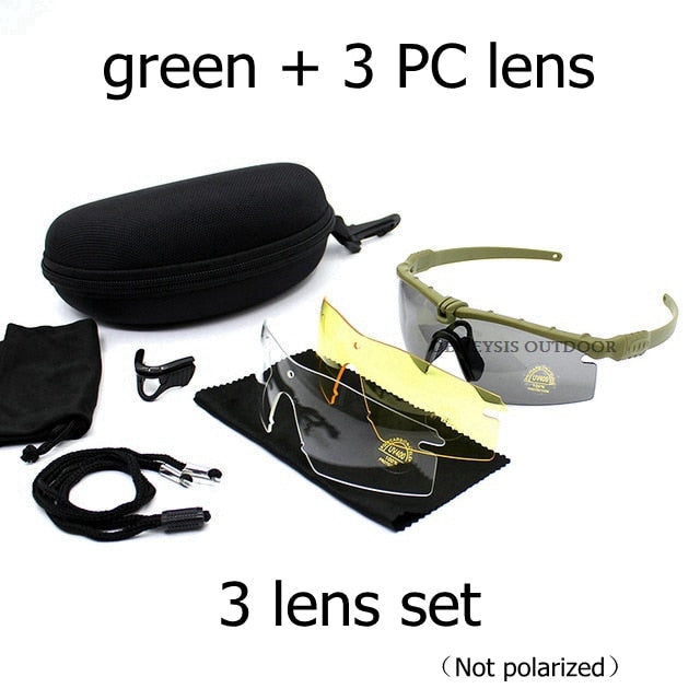 Tactical Polarized Glasses Military Goggles Bullet-proof Army Sunglasses With 3 Lens Men Shooting Eyewear Motorcycle Gafas - Smoulder Products