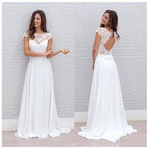 LORIE Simple Boho Wedding Dress Beach 2019 Robe de mariee Off The Shoulder Bridal Dress Chiffon Wedding Dresses Spaghetti Straps - Smoulder Products