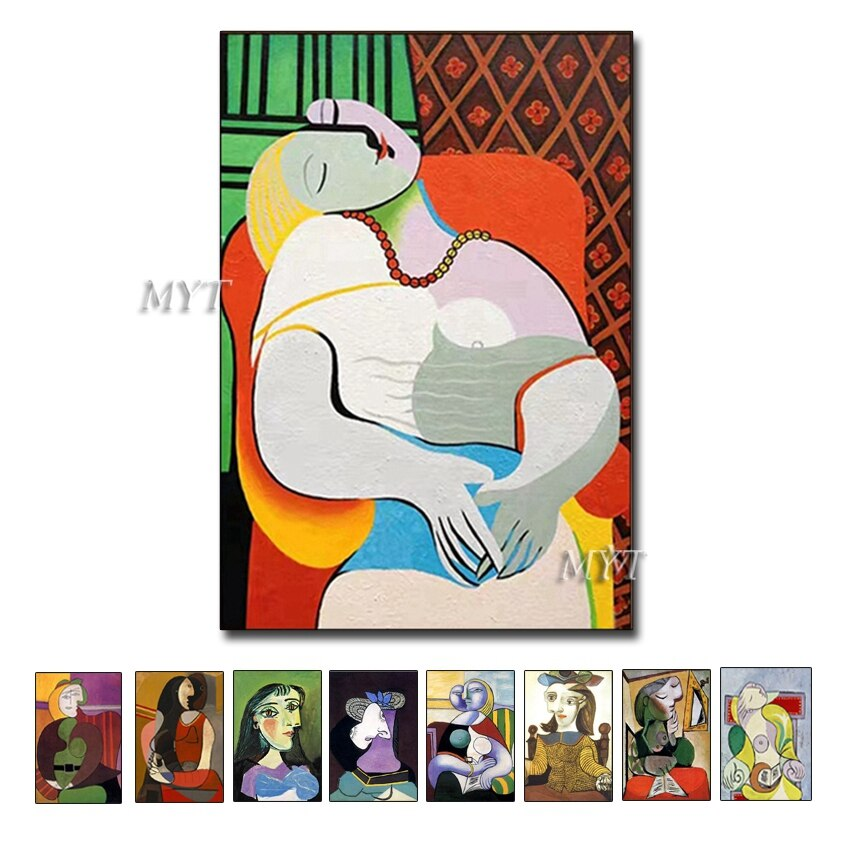 New Abstract Figure Art Handmade Picasso Paintings Reproduction Modern Oil Painting Canvas Wall Art Home Decor Wall Pictures Art - Smoulder Products