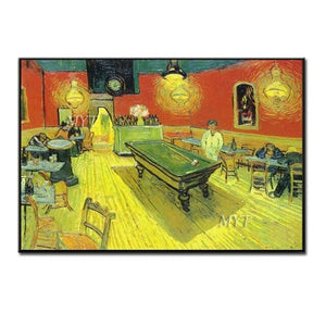 Famous Reproduction Van Gogh Coffee Shop Oil Painting 100% Handmade Paintings Wall Canvas Decor Art For Living Room Decoration - Smoulder Products