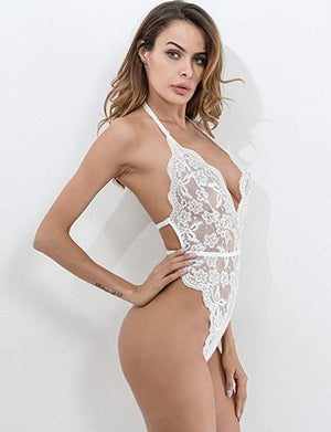 New Fashion Women Ladies Sleeveless Sexy Lace Bodysuit Lingerie Romper Jumpsuit Sleepwear Playsuit Bodycon Sleeveless - Smoulder Products